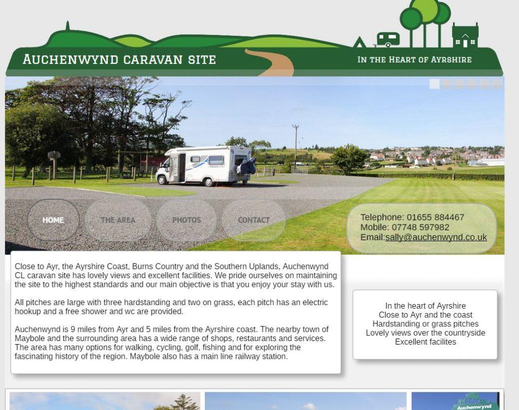 Auchenwynd Caravan Site
