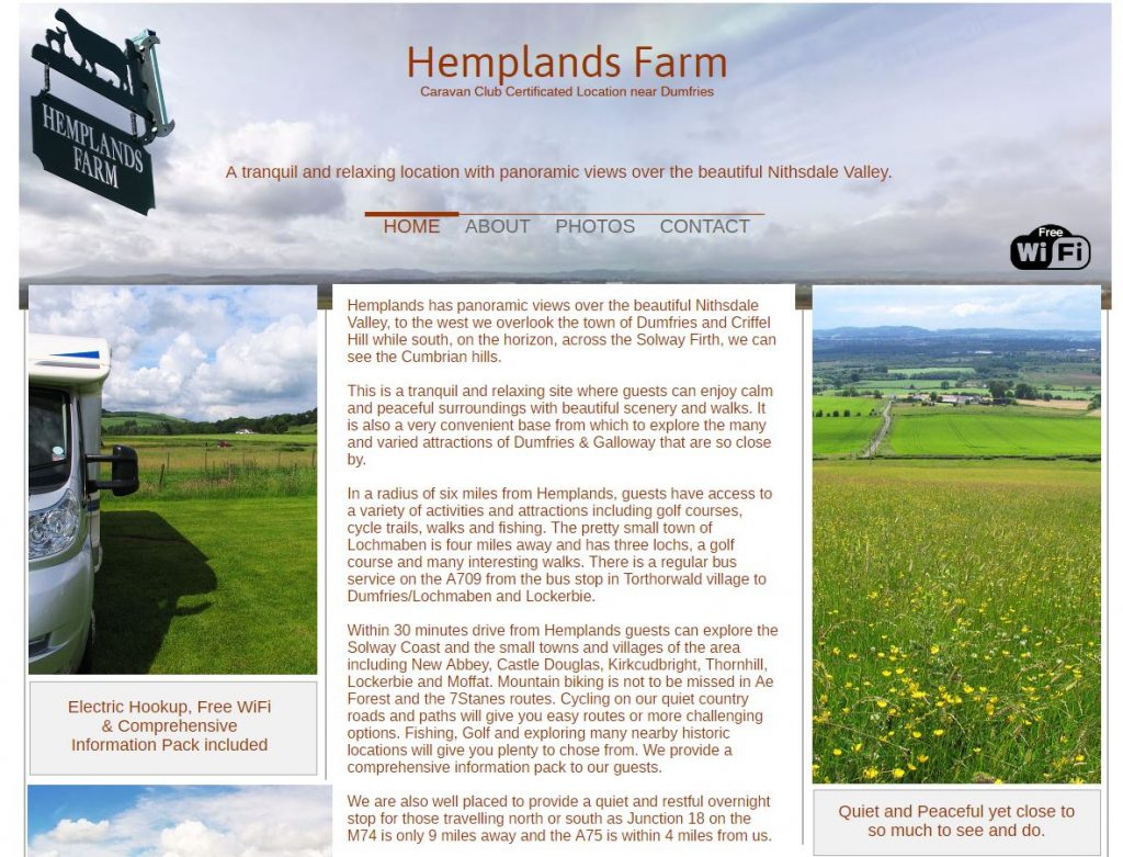 Hemplands Farm Caravan Site